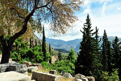 Sanctuary of Apollo, Ancient Delphi - Delphi, Greece.