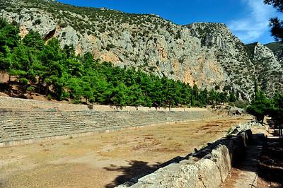 The Delphi Stadium.