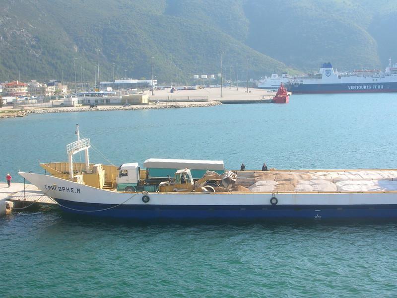 Greece - Ignoumenitsa April 1 2008  Loading gravel/sand ferry.