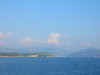 Greece - Ferry to Corfu looking back at Ignoumenitsa April 1 2008