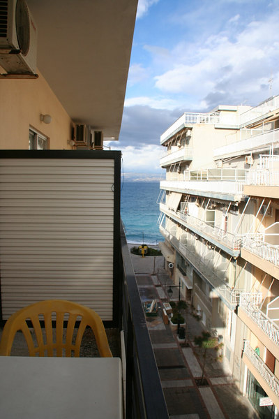 View of the sea from our balcony in the Marko Hotel. This would be great in the summer.