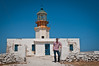 Martin in front of the old lighthouse in the north of Mykonos