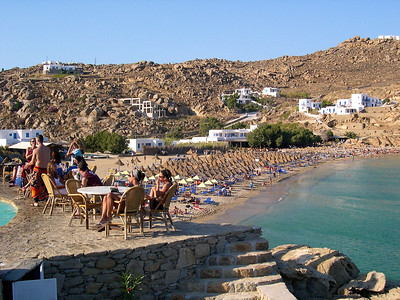 Mykonos - July 2004 Super Paradise Beach