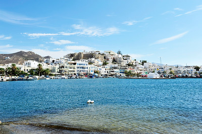 Harbor of Naxos Town.