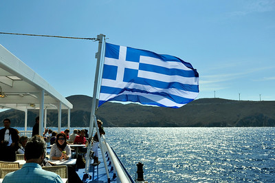 On the Ferry out of Athens.