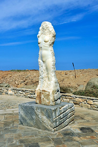 Marble statue of  Aphrodite (Venus) on Naxos.