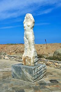 Marble statue of  Aphrodite (Venus) on Naxos.