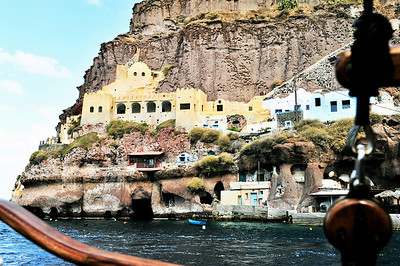 What a view these homes terraced into the cliffs have.