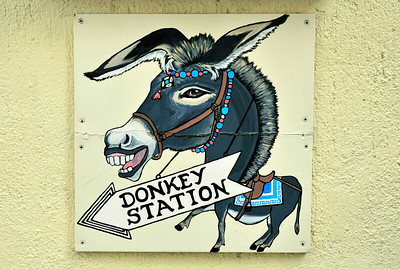 Cable car, donkey or walk...
