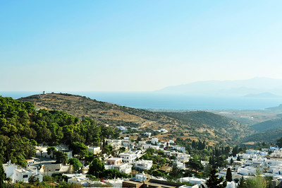 Overlooking the village of Lefkes to the Island of Naxos.