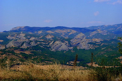 Travelling towards the Meteora monasteries