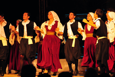 Local dancers in Vathy