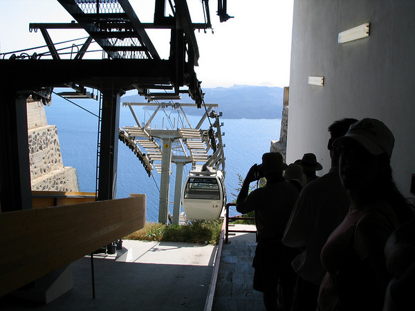 Waiting for the cable car