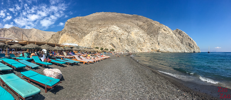 Boat trip from Crete to Santorini - beach