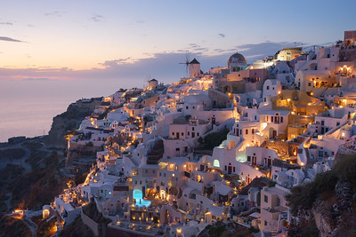 Oia Sunset 2- Lights everywhere