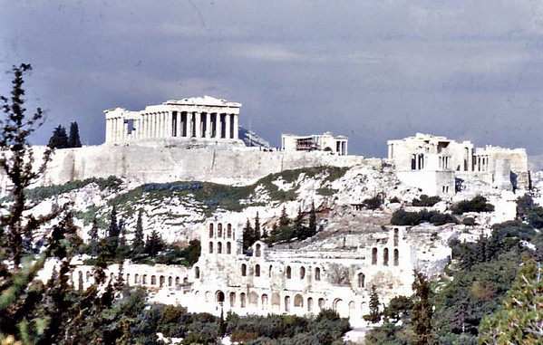 The Parthenon The acropolis Athens Greece - Jan 1979