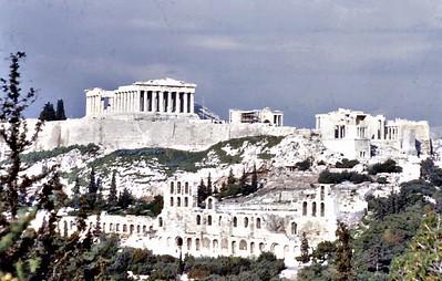 The Parthenon The acropolis Athens Greece - Jan 1979