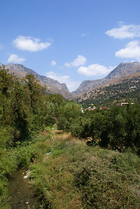 Plakias Hostel backyard view, Crete