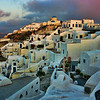 Oia in the morning, Santorini, July 2005