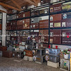 Orderly storage of casks of those passed on inside Greek columbarium