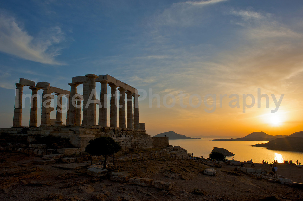 Temple of Poseidon at sunset