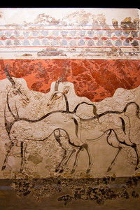 Antelope fresco from Akrotiri, Thera aka Santorini (2nd millennium BC) National Archaeological Museum Athens, Greece