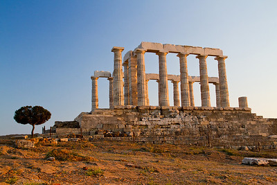 Temple of Poseidon Soúnio, Attica, Greece