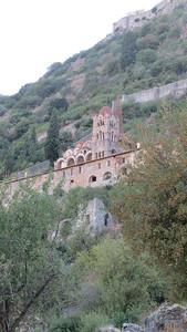 Mystras, a medieval city on a hillside near Sparta.