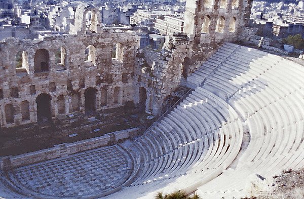 Amphitheatre The acropolis Athens Greece - Jan 1979