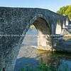 Ancient stone bridge at Arta in Pindus Mountains
