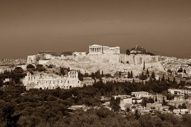 Acropolis Sepia Tone