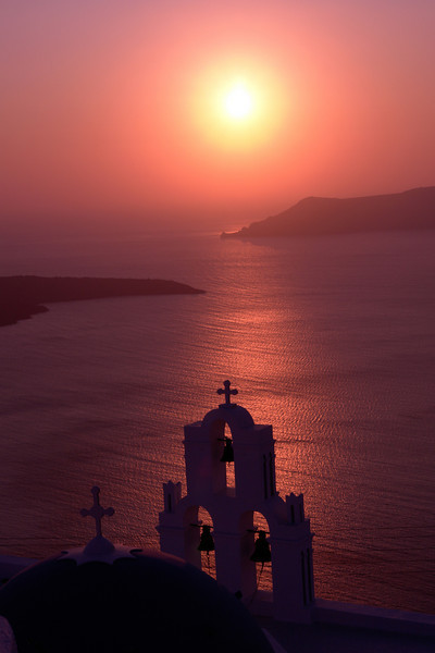 Santorini Sunset by Alan Clay Knapp