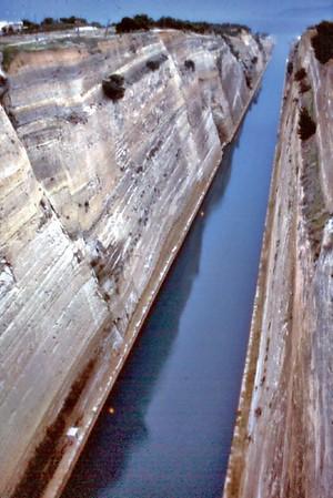 Corinth canal Corinth Greece - Jan 1979
