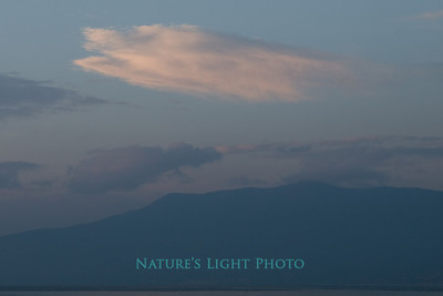 Cloud over Argolic Gulf, Nafplio, Greece