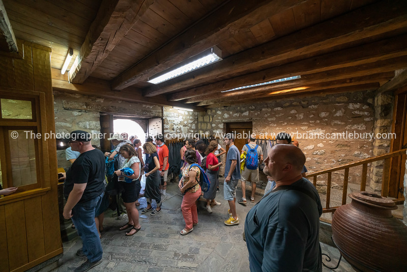 Entering a monastery at Meteora.