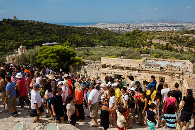 Crowds at the Acropolis