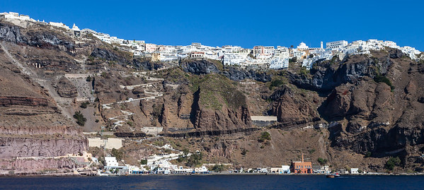 Coastal view of Fira, Santorini