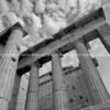 Parthenon columns reaching skyward