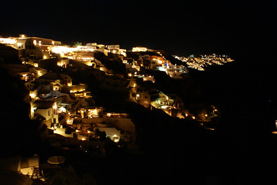 Oia at night, Santorini, Greece