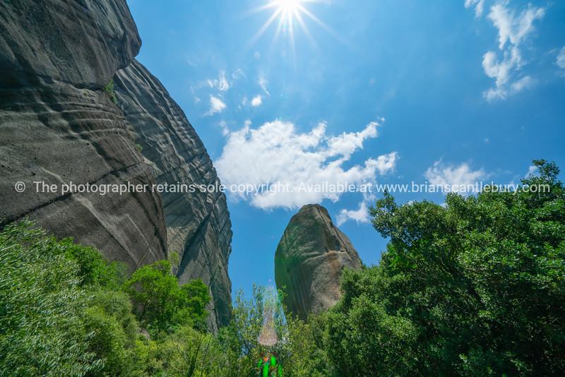 Geology and huge rocks of Meteora.