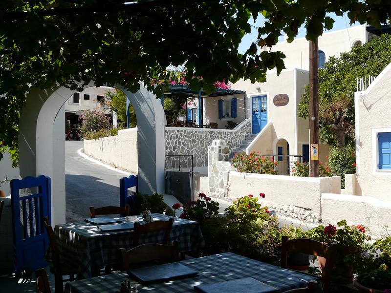 A fantastic restaurant in Santorini