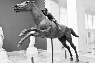 Bronze statue of a horse and jockey from Cape Artemision in Euboea (c. 140 BC) National Archaeological Museum Athens, Greece