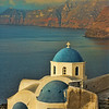 Blue Domed church over the Caldera, Oia, Santorini, July 2005
