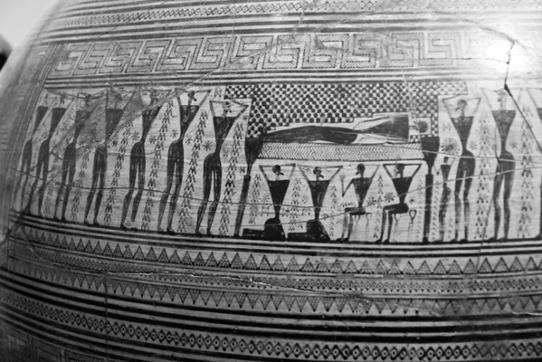 Detail of Dipylon Vase (c. 750 BC) National Archaeological Museum Athens, Greece