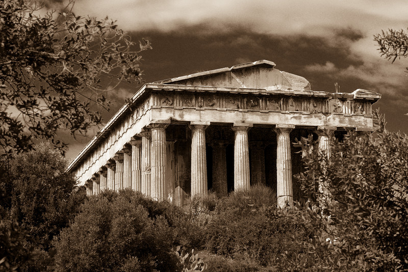 Theseion Sepia Tone by Alan Clay Knapp
