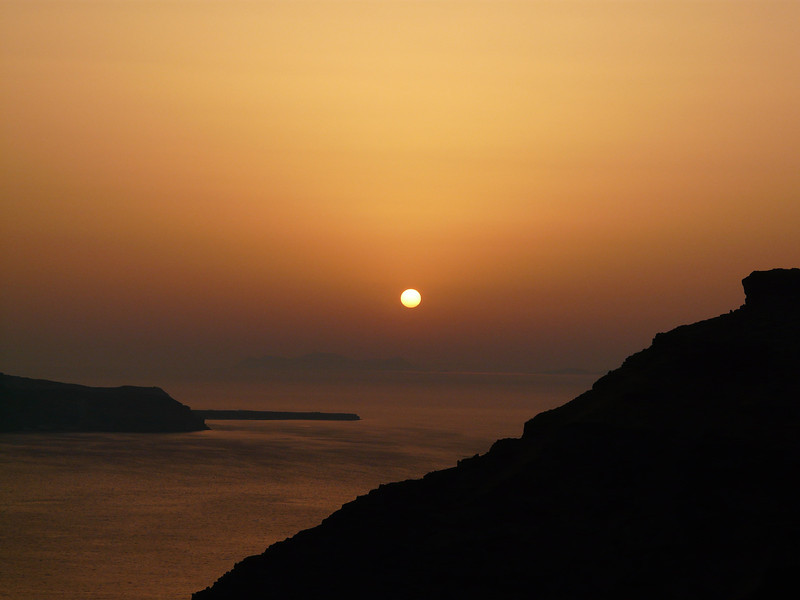 Caldera sunset view