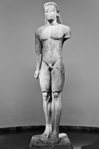 Kouros from Sounion (c. 600 BC) National Archaeological Museum Athens, Greece