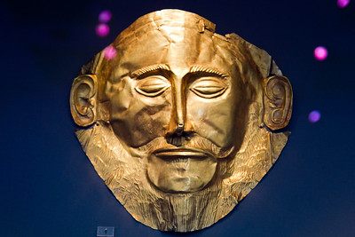 Mask of Agememnon (c. 1550 BC) National Archaeological Museum Athens, Greece