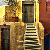 Steps to the bike, Oia, Santorini