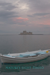 Fishing Boat & Fortress, Nafplio Harbor-6049